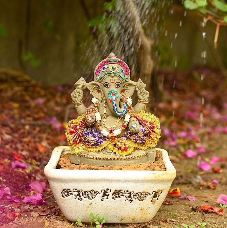eco friendly ganesha idols